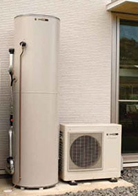 Sanden hot water heat pumps australian hot water Energy efficient hot water systems