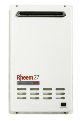 Rheem Continuous Flow Gas 27L available through your local, authorised agents at Australian Hot Water