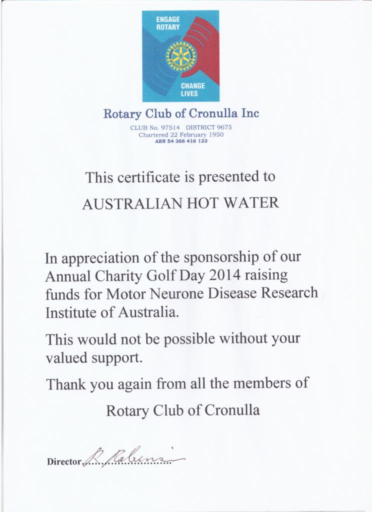 Rotory Club of Cronulla - Sponsorship -AHW South 2014 001