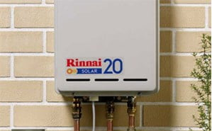 Rinnai 20 gas booster for solar hot water