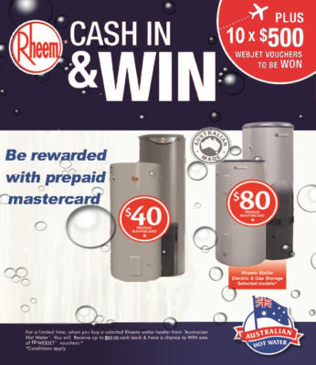 Rheem Cash in and WIN- OFFER ENDED