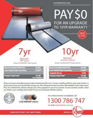 Rheem 10 Year Warranty