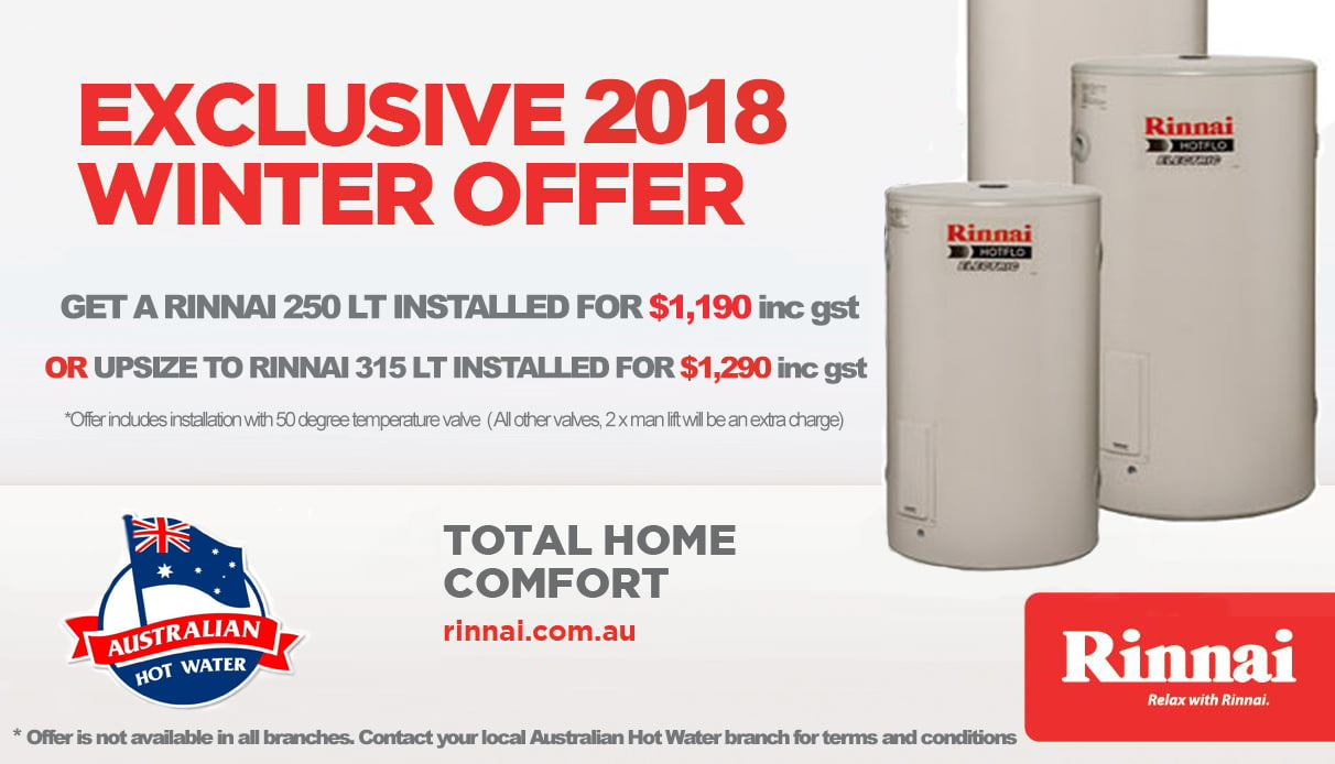 Exclusive Rinnai Promotion