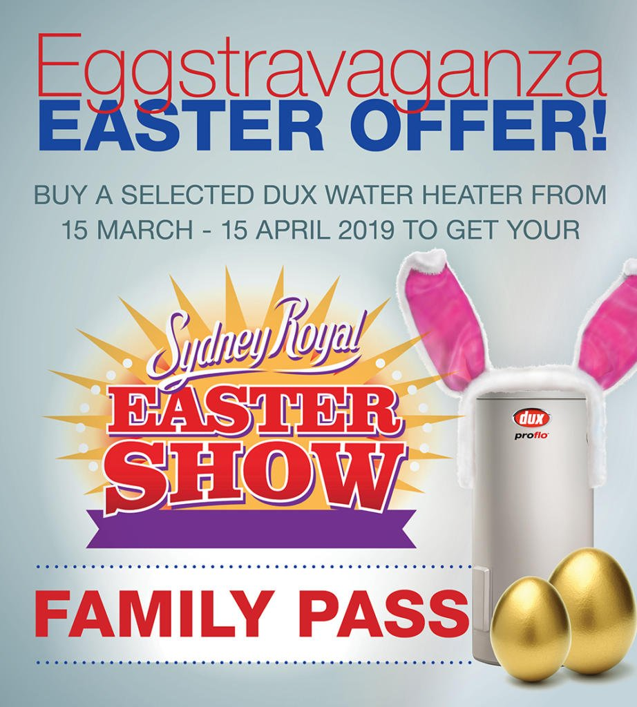 Hop to it & don't miss out, install a Dux water heater today.