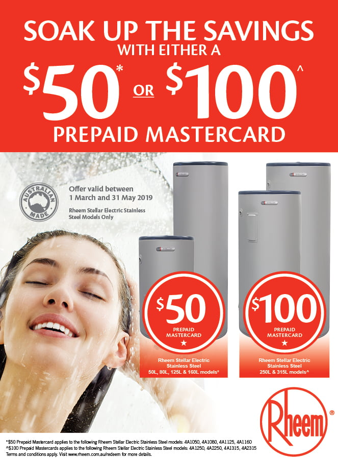 Soak up the Savings & claim either $50 or $100