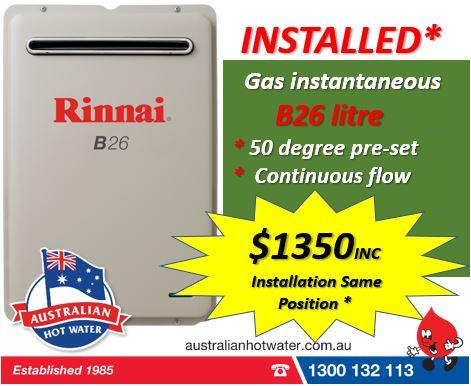 Rinnai infinity B26 $1350. Installed