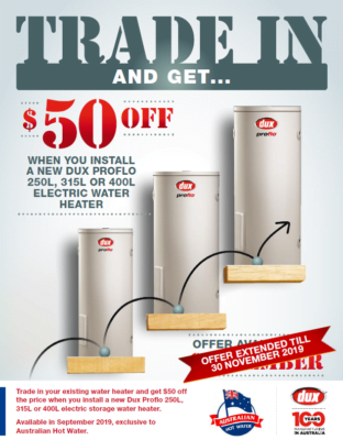 Trade in and SAVE $50.00 with Dux -OFFER ENDED