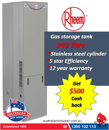 Rheem 340 Stainless steel Natural Gas tank upgrade -OFFER ENDED