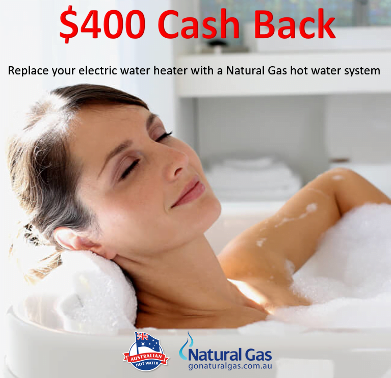 $400 Cash Back switch to Natural Gas